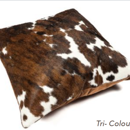 Cowhide Cushion - Tri-Coloured