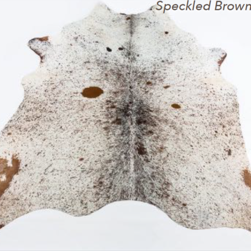 Cowhide Rug - Speckled Brown Light