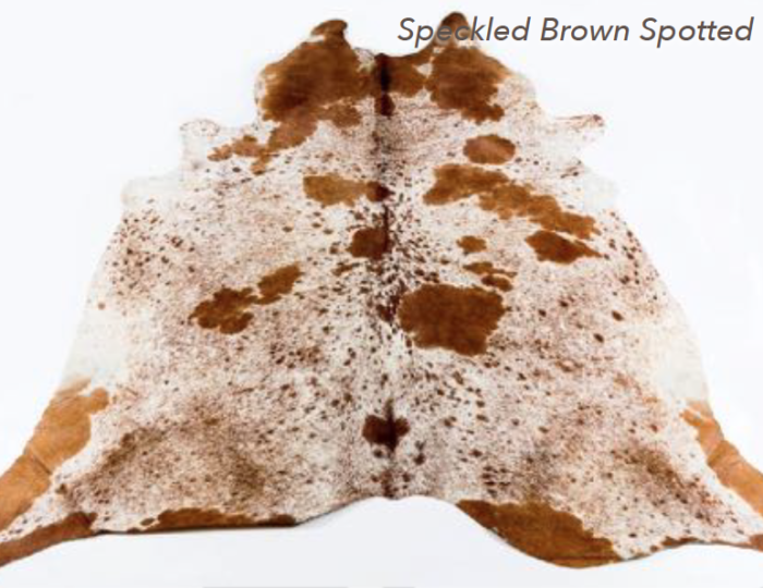 Cowhide Rug - Speckled Brown Spotted