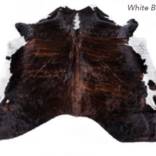 Cowhide Rug - White Brindle