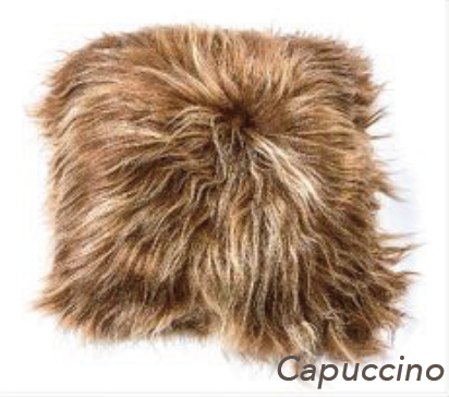 Icelandic Long Hair Cushion - Cappuccino