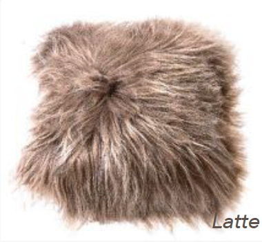 Icelandic Long Hair Cushion - Latte