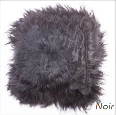 Icelandic Long Hair Cushion - Noir