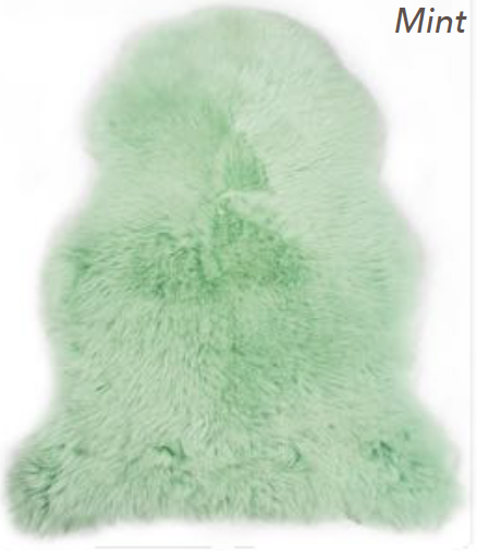Merino Sheepskin Rug - Mint (Large)