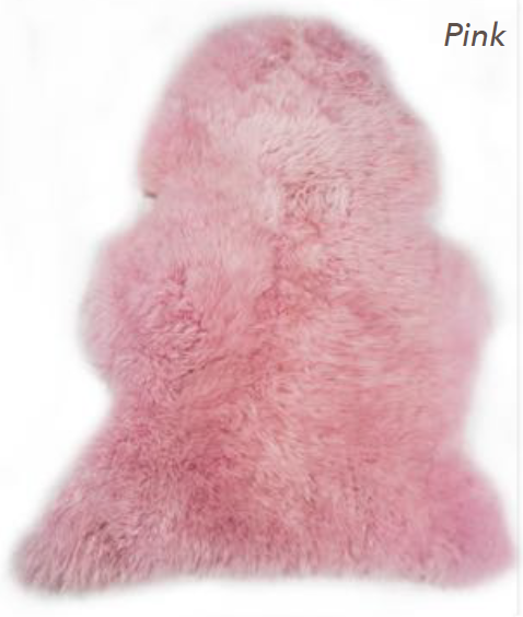 Merino Sheepskin Rug - Pink (Large)