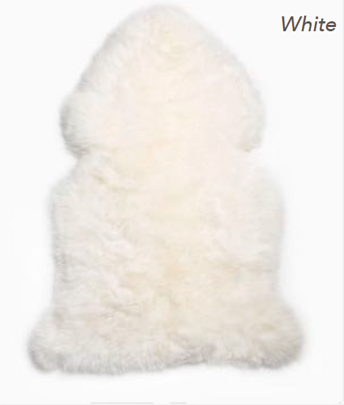 Merino Sheepskin Rug - White (Large)