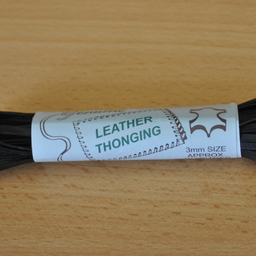 Leather Lacing - Black