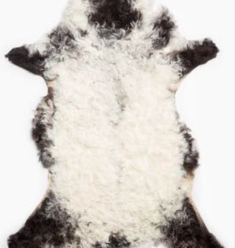 Curly Mountain Sheepskin Rug - Black