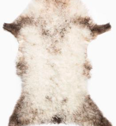 Curly Mountain Sheepskin Rug - Brown