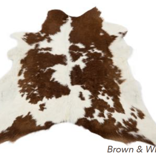 Calfskin Rug - Brown & White