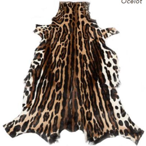 Springbok Rug with Ocelot Print