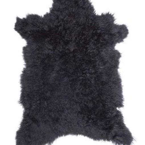 Cashmere Goat Skin Rug - Noir