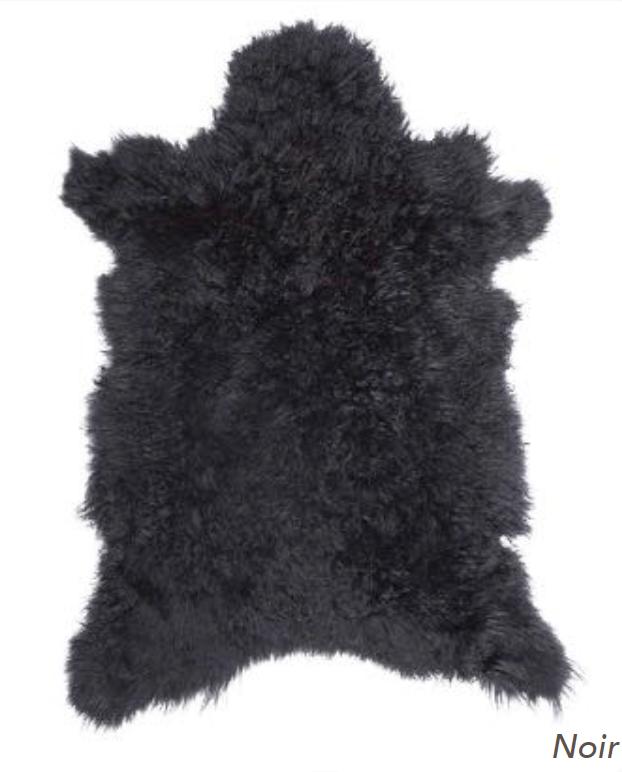 Cashmere Goat Skin Rug - Noir | Luxury