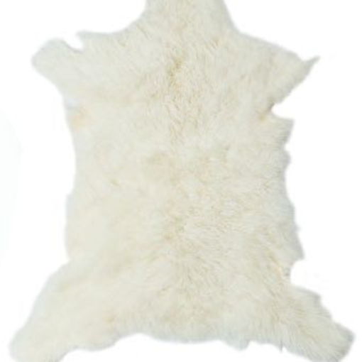 Cashmere Goat Skin Rug - Frost