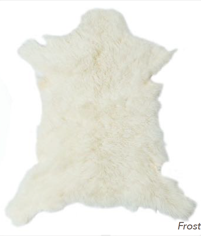 Cashmere Goat Skin Rug - Frost | Luxury