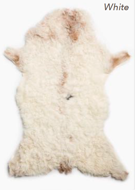 Curly Mountain Sheepskin - White