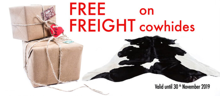 Freight Free on Cowhides