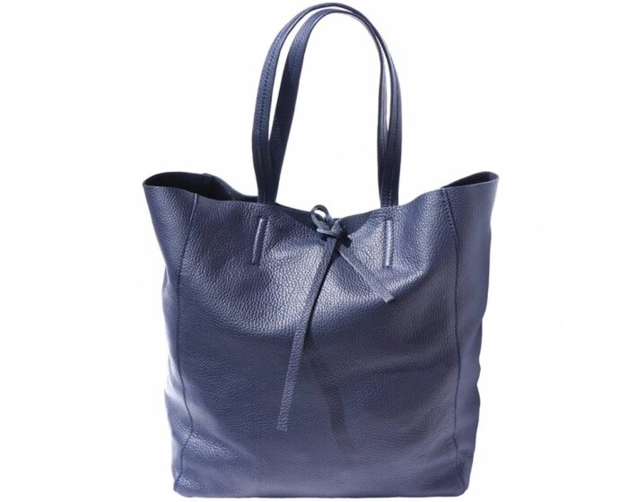 Italian Leather Shopping Tote