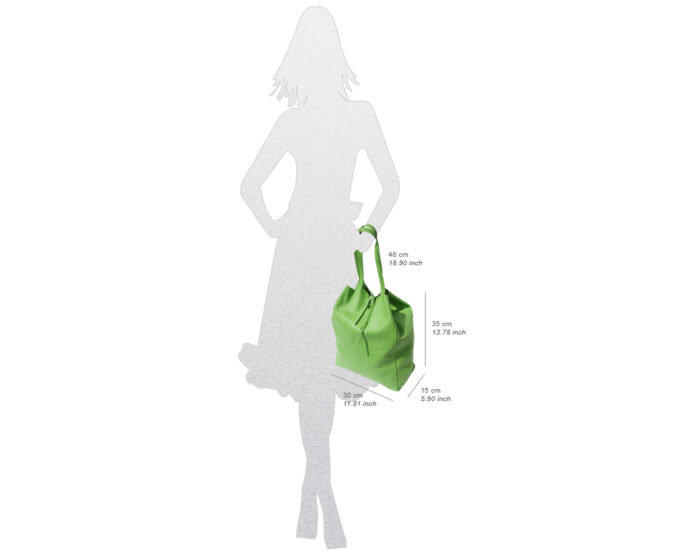 Italian Leather Shopping Bag Dimensions